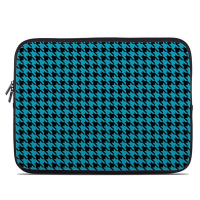 Laptop Sleeve - Teal Houndstooth