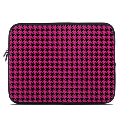 Laptop Sleeve - Pink Houndstooth