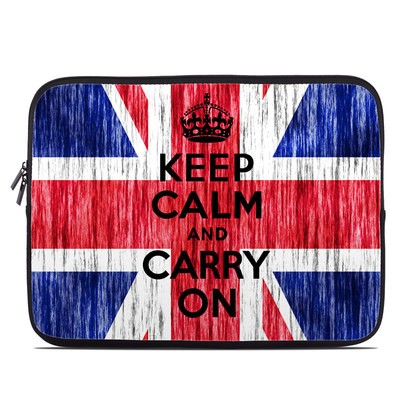 Laptop Sleeve - Keep Calm - Grunge
