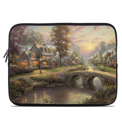Laptop Sleeve - Sunset On Lamplight Lane