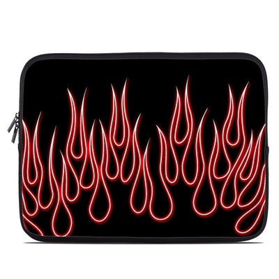 Laptop Sleeve - Red Neon Flames
