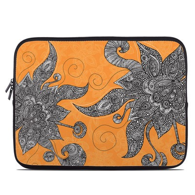 Laptop Sleeve - Orange Flowers