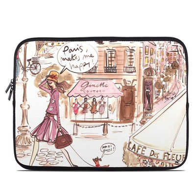 Laptop Sleeve - Paris Makes Me Happy