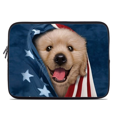 Laptop Sleeve - Patriotic Retriever