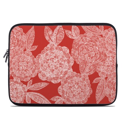 Laptop Sleeve - Red Dahlias