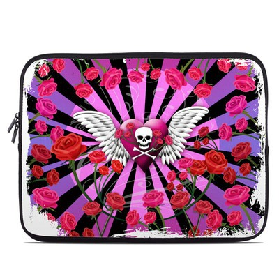 Laptop Sleeve - Skull & Roses Pink