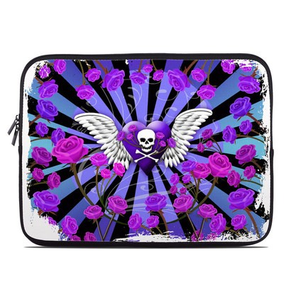 Laptop Sleeve - Skull & Roses Purple