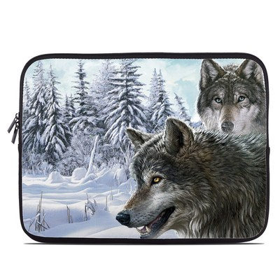 Laptop Sleeve - Snow Wolves