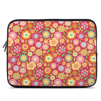 Laptop Sleeve - Flowers Squished