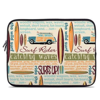 Laptop Sleeve - Surf Words