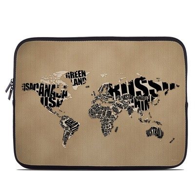 Laptop Sleeve - Type Map