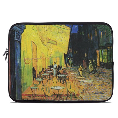 Laptop Sleeve - Cafe Terrace At Night