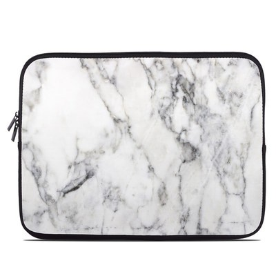 Laptop Sleeve - White Marble