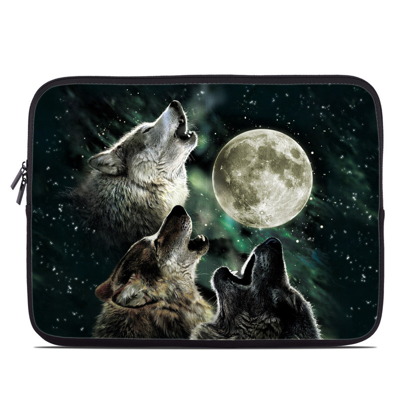 e41cc7bb997 Laptop Sleeve - Three Wolf Moon by Antonia Neshev