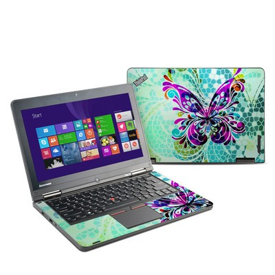 Lenovo Yoga Thinkpad 12 Skin - Butterfly Glass