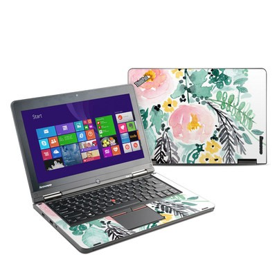 Lenovo Yoga Thinkpad 12 Skin - Blushed Flowers