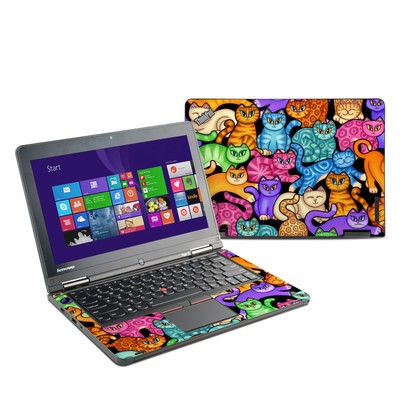 Lenovo Yoga Thinkpad 12 Skin - Colorful Kittens