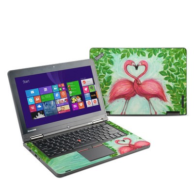 Lenovo Yoga Thinkpad 12 Skin - Flamingo Love