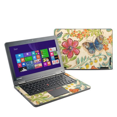 Lenovo Yoga Thinkpad 12 Skin - Garden Scroll