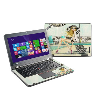 Lenovo Yoga Thinkpad 12 Skin - Luxe Retreat Poolside