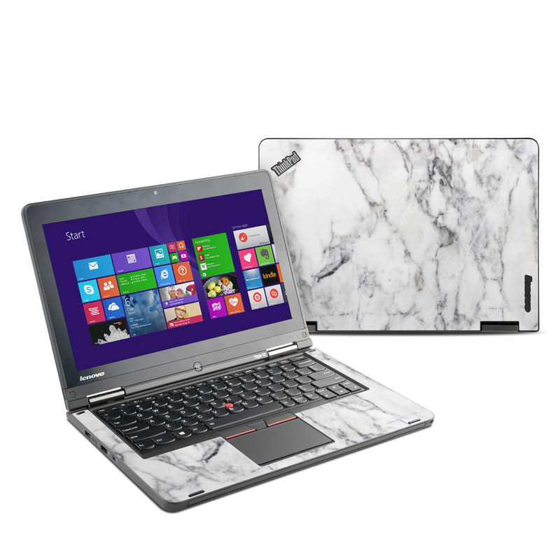 Lenovo Yoga Thinkpad 12 Skin White Marble By Marble