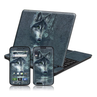 Motorola Atrix 4G Skin - Wolf Reflection