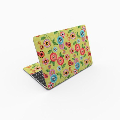 MacBook 12in Skin - Button Flowers