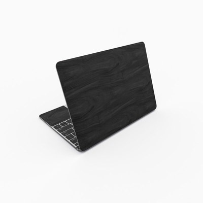 MacBook 12in Skin - Black Woodgrain