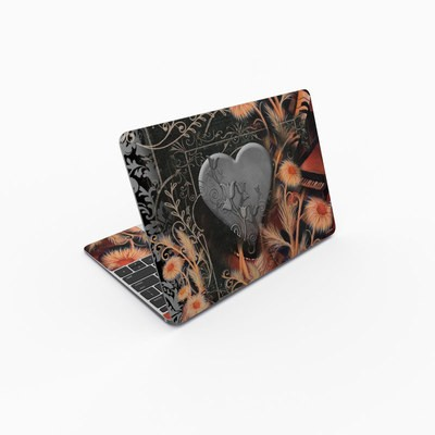 MacBook 12in Skin - Black Lace Flower