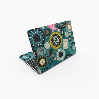 MacBook 12in Skin - Blooms Teal