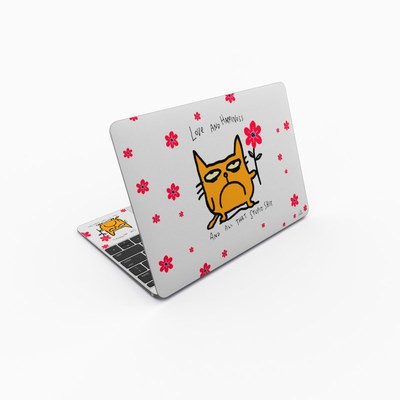 MacBook 12in Skin - Catwad Happy