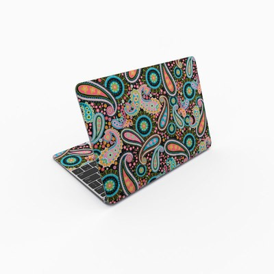 MacBook 12in Skin - Crazy Daisy Paisley