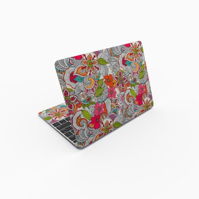 MacBook 12in Skin - Doodles Color