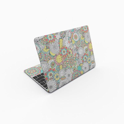 MacBook 12in Skin - Faded Floral