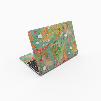 MacBook 12in Skin - Feathers Flowers Showers
