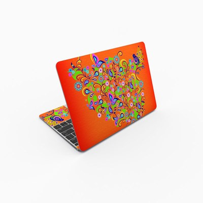 MacBook 12in Skin - Orange Squirt