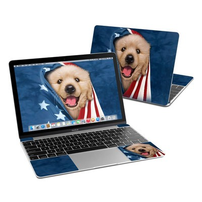 MacBook 12in Skin - Patriotic Retriever