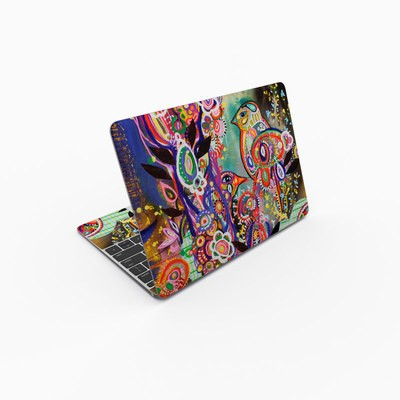 MacBook 12in Skin - Purple Birds
