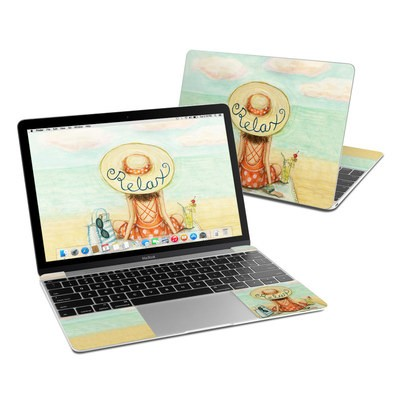 MacBook 12in Skin - Relaxing on Beach