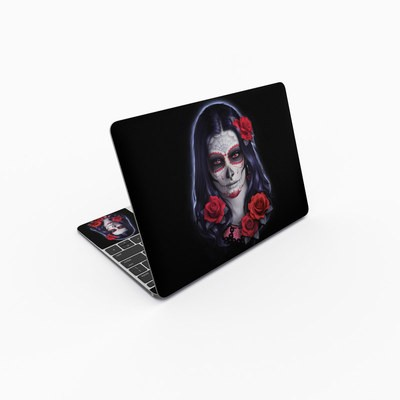 MacBook 12in Skin - Sugar Skull Rose