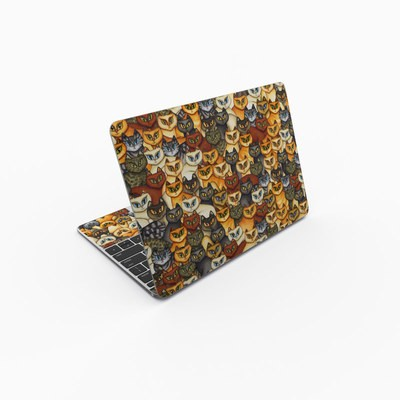MacBook 12in Skin - Stacked Cats