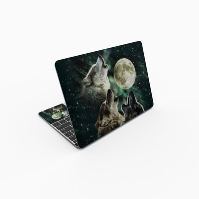 MacBook 12in Skin - Three Wolf Moon