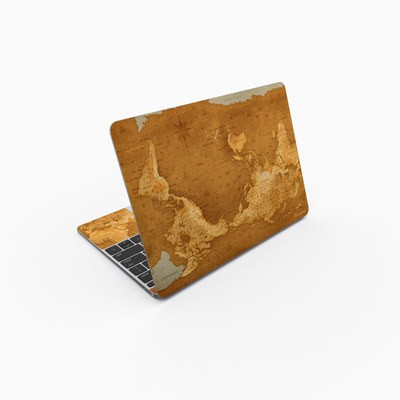 MacBook 12in Skin - Upside Down Map