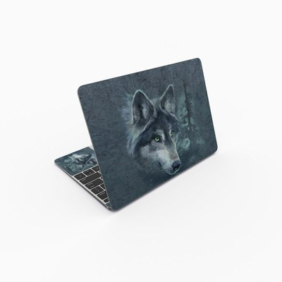 MacBook 12in Skin - Wolf Reflection