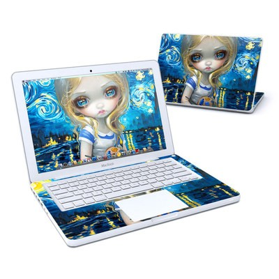MacBook 13in Skin - Alice in a Van Gogh