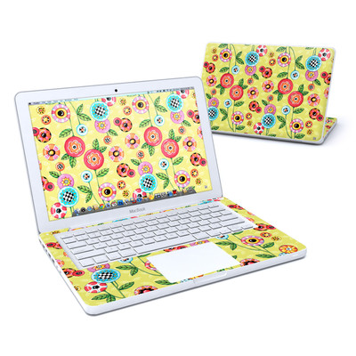 MacBook 13in Skin - Button Flowers