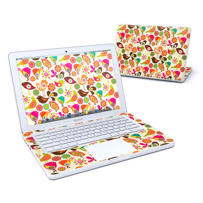 MacBook 13in Skin - Bird Flowers