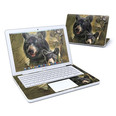 MacBook 13in Skin - Black Bears