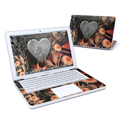 MacBook 13in Skin - Black Lace Flower