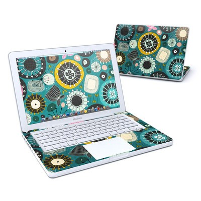 MacBook 13in Skin - Blooms Teal